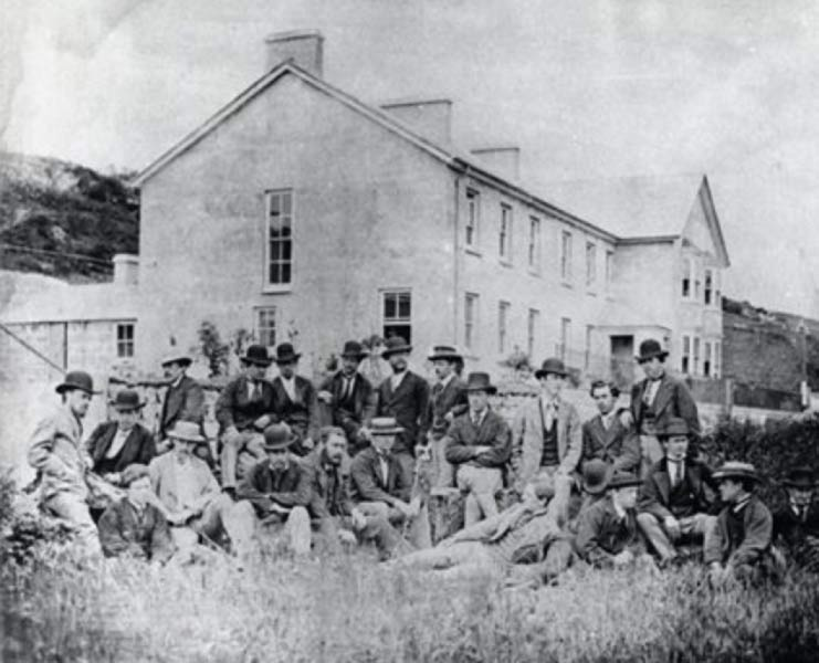 Trainees at PK Telegraph Station, 1872