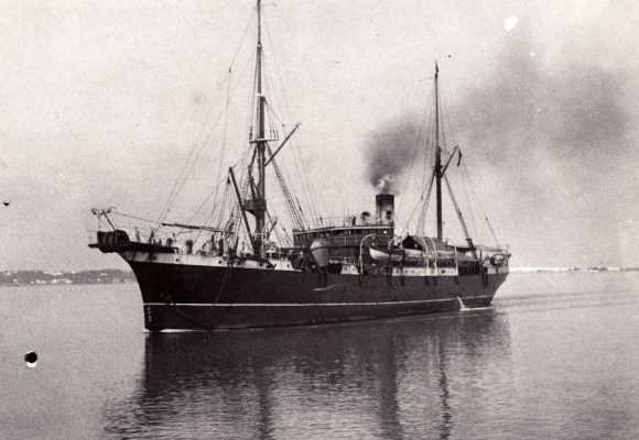 The Cable-ship the Mackay Bennett at sea