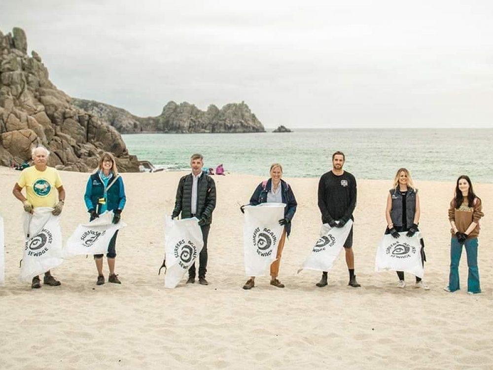 PK Porthcurno Beach clean